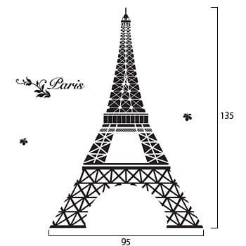 ウォールステッカー ノーマルシリーズ「Eiffel in Love」
